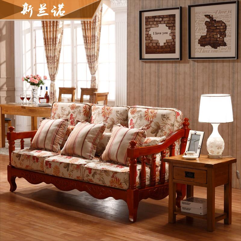斯兰诺欧式工资实木沙发v工资田园布艺沙发橡翡家具卡亚沙发图片