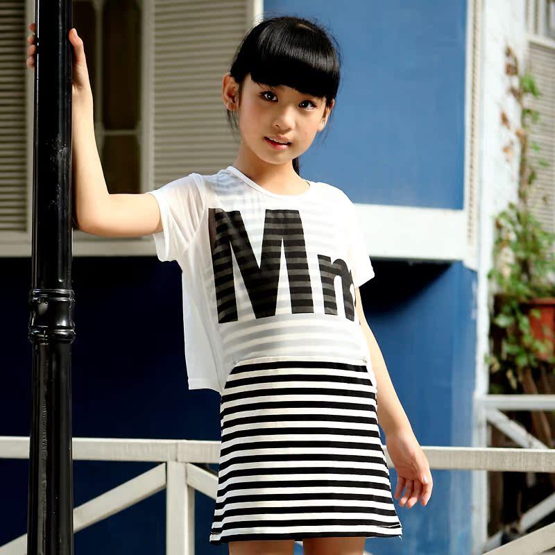 13岁女童装夏装10岁女童连衣裙12岁女孩夏季