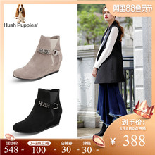 Hush-Puppies-暇步士冬季羊绒皮革坡跟女短靴HEK61DD7
