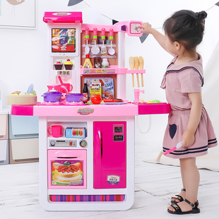 小伶儿童厨房玩具套装仿真厨具做饭女童女孩煮饭过家家宝宝3-6岁7