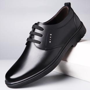 冬季皮鞋男真皮英伦潮流男士鞋加绒商务鞋子青年百搭男鞋