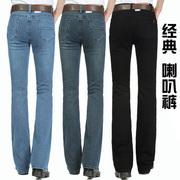 新2019春秋夏牛仔裤中腰弹力喇叭裤男士微喇裤男牛仔裤