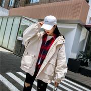 棒球服女外套2018春秋季学院风学生宽松夹克短款bf原宿风工装