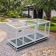 狗笼子狗围栏泰迪狗跑床繁殖宠物狗笼子中小型犬大型三层养殖猫笼