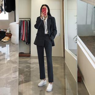2018秋冬OL职业正装时尚气质西服面试工作服小西装套装女