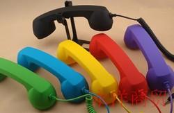 复古式孕妇听筒式iphone6外接耳机手机电话筒防辐射通用时尚配件