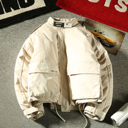 「观察者」冬季美式潮男士立领工装棉衣日系保暖外套宽松棉服