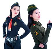 小贝军迷水兵舞蹈服装翻领短袖T恤广场舞女装上衣团体演出服