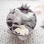 婴儿满月礼盒套装新生儿用品纯棉衣服女宝宝秋冬季公主裙礼物
