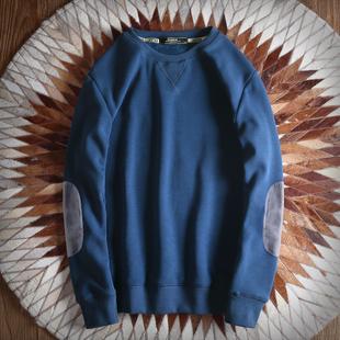 秋冬纯色卫衣男圆领套头长袖加绒加厚无帽秋装简约INS打底衫