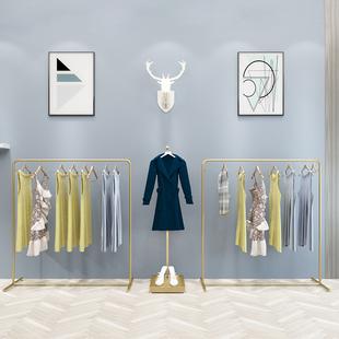 欧式服装店展示架落地式女装店货架陈列组合侧挂衣架童装衣服架子