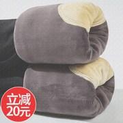 棉裤男冬季加绒加厚东北高腰大码驼绒三层超厚绒裤保暖裤单件