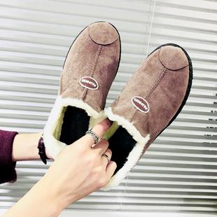 冬季加厚棉鞋女加绒平底百搭雪地靴女短筒防滑短靴子