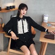 秋季2018时尚百搭中长款上衣女潮优雅宫廷风宽松长袖衬衫