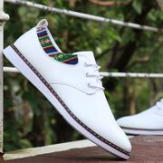 男鞋秋季潮鞋2018小皮鞋系带青年平底小白鞋低帮板鞋