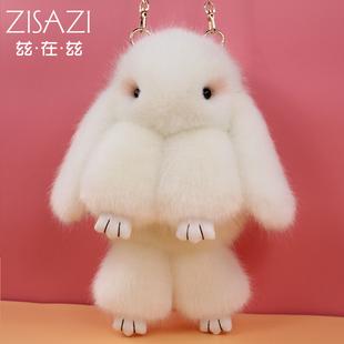 2018秋冬兔子毛绒小包包女毛毛包可爱装死兔单肩斜挎包双肩包