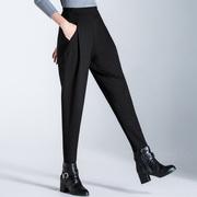 布琳达2018秋冬裤子女宽松大码女裤哈伦裤加绒长裤萝卜裤