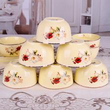 10个装欧式餐具套装陶瓷碗创意5英寸米饭碗 吃饭碗家用瓷碗不烫手
