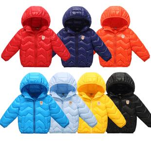 反季儿童羽绒棉服冬装轻薄男女宝宝外套短款棉衣纯色童装棉袄
