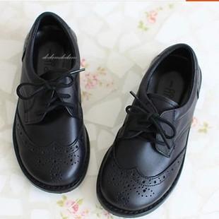 韩国进口童鞋男女童儿童真皮演出生日牛皮礼服鞋黑色皮鞋单鞋