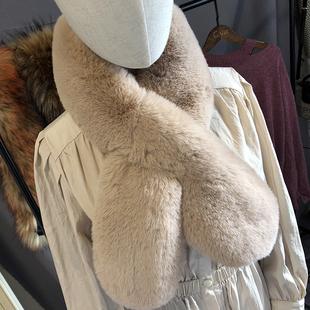 2018秋冬季保暖加厚仿狐狸毛皮草围巾毛毛围脖女士毛领子