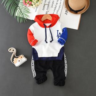 1-4岁童装2014男童长袖套装宝宝秋季卫衣3小童纯棉两件套