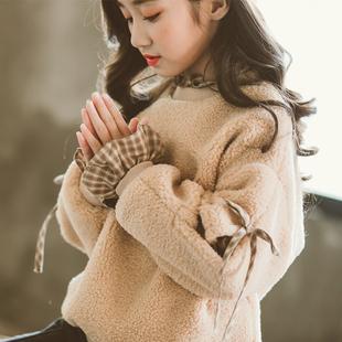 中大女童卫衣加绒加厚2018潮洋气儿童秋冬装保暖冬季上衣