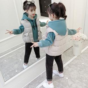 童装女童冬装套装2018儿童秋冬潮衣服加绒加厚卫衣三件套
