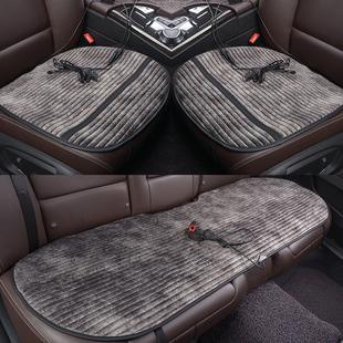 冬季汽车加热坐垫车载车垫12V通用车用电加热单片单座三件套座垫