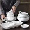 熙悠饭碗碟套装日式餐具套装家用吃饭的碗碟碗套装陶瓷碗筷盘汤碗