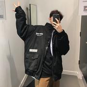 韩国ins棉衣男士潮牌2018冬季工装外套帅气宽松加厚棉服