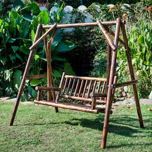 全实木户外秋千室内外成人吊篮庭院田园防腐木摇椅阳台休闲吊椅
