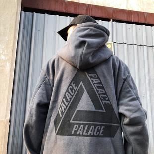 PALACE 18 SS 背后大三角LOGO 摇粒绒运动套头卫衣帽衫男女潮