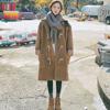 胖mm港风大码女装2018秋冬季呢子大衣200斤宽松流行毛呢外套