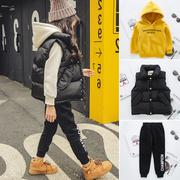 女童加绒加厚套装冬装2018时尚秋冬洋气时髦三件套大儿童装潮