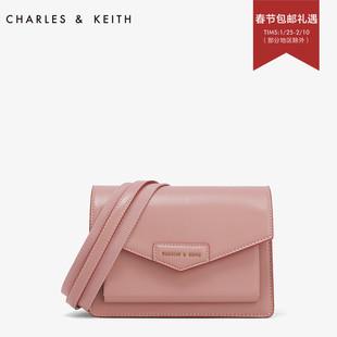 CHARLES&KEITH信封包 CK2- 通勤翻盖单肩邮差信封斜挎包