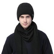 男士帽子冬季羊毛线帽加厚保暖青年针织包头帽男冬天防寒冷帽