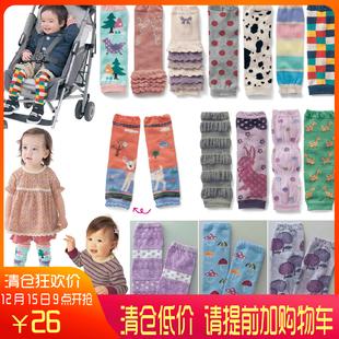 日本童装2018秋款男女宝宝护膝婴儿护腿腿套儿童袜套