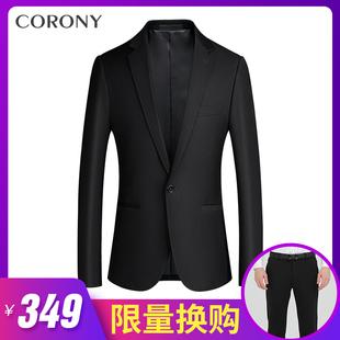 男士西服上衣商务双排扣小西装外套单西正装男装套装