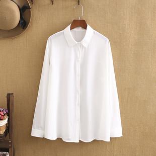 胖妹妹衬衫女宽松大码春装雪纺长袖衬衫200斤显瘦打底衫