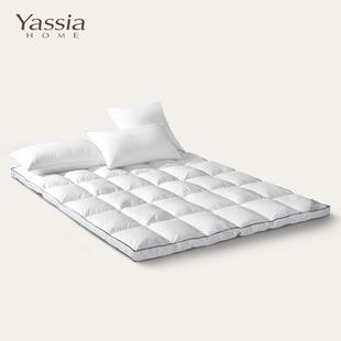 雅西亚95白鹅绒床垫酒店羽绒褥子双层加厚垫被单双人1.5 1.8米床