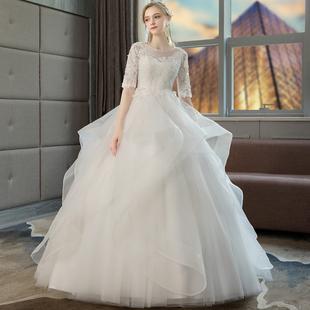 孕妇婚纱遮孕肚高腰孕妇款新娘结婚婚纱女新娘主纱2018冬季