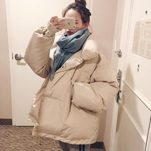 面包服女短款原宿ins2018宽松加厚学生东大门羽绒棉服潮