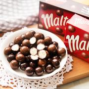 麦丽素澳洲进口麦提莎牛奶黑巧克力朱古力巧克力豆90g童年零食品