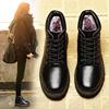冬季马丁靴女短靴英伦风学生棉鞋女鞋加绒皮鞋大码鞋子平底女靴子