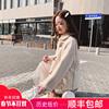 牛角扣外套女冬2018韩国皮毛一体颗粒绒加厚羊羔毛小个子短款