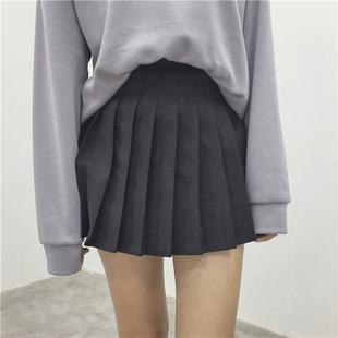 2019短裙宽松压褶百褶半身裙包臀裙女装短款外穿小裙子女可爱
