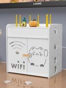 无线网收纳盒路由器置物架落地机顶盒电视柜桌面盒子架子wifi壁挂