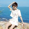 小清新套装夏季时尚洋气淑女甜美少女短裤小个子网红两件套装俏皮