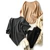 のZY AG 笑涵阁 复古优雅 慵懒蝙蝠袖 纯色羊毛套头针织衫